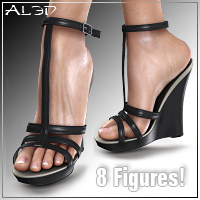 Shoe Pack6 for V4/A4 3D Figure Assets _Al3d_