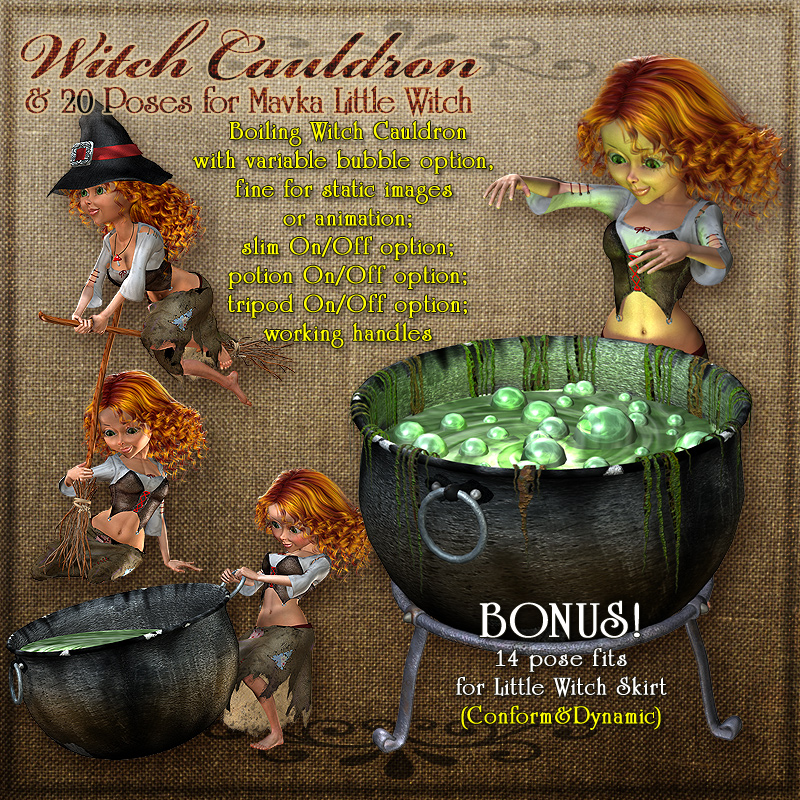 Mavka:Witch Cauldron and Poses