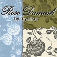 Rose Damask 2D mystikel