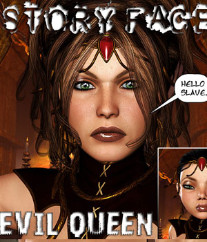 StoryFaces - Evil Queen 3D Figure Assets Darkworld
