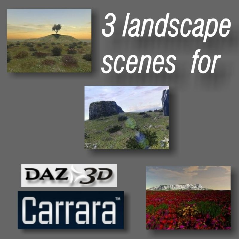 3 landscape scenes for Carrara