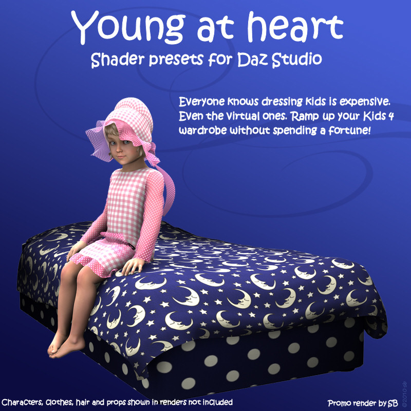 Young at Heart Shader Presets for Daz Studio