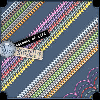 Colours Of Life:Decorative Stitches I 2D Valerian70