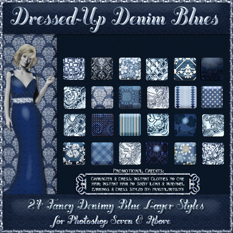 Dressed-Up Denim Blues Styles w/Free Gift