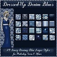 Dressed-Up Denim Blues Styles w/Free Gift 2D And/Or Merchant Resources Themed fractalartist01