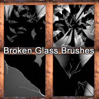 Broken Glass Brushes Themed 2D And/Or Merchant Resources mystikel