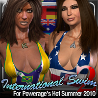International Swim 2 for Hot Summer 2010 by Powerage 3D Models 3D Figure Essentials fratast