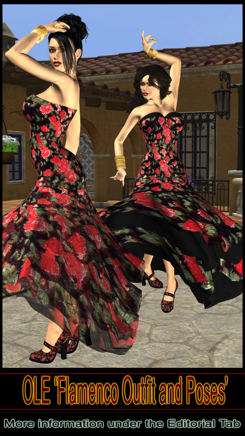 OLE V4 Flamenco Outfit and Poses
