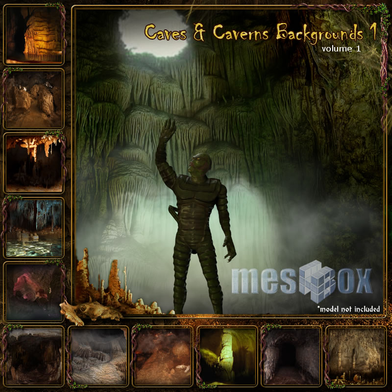 Meshbox Caves and Caverns Backgrounds 1