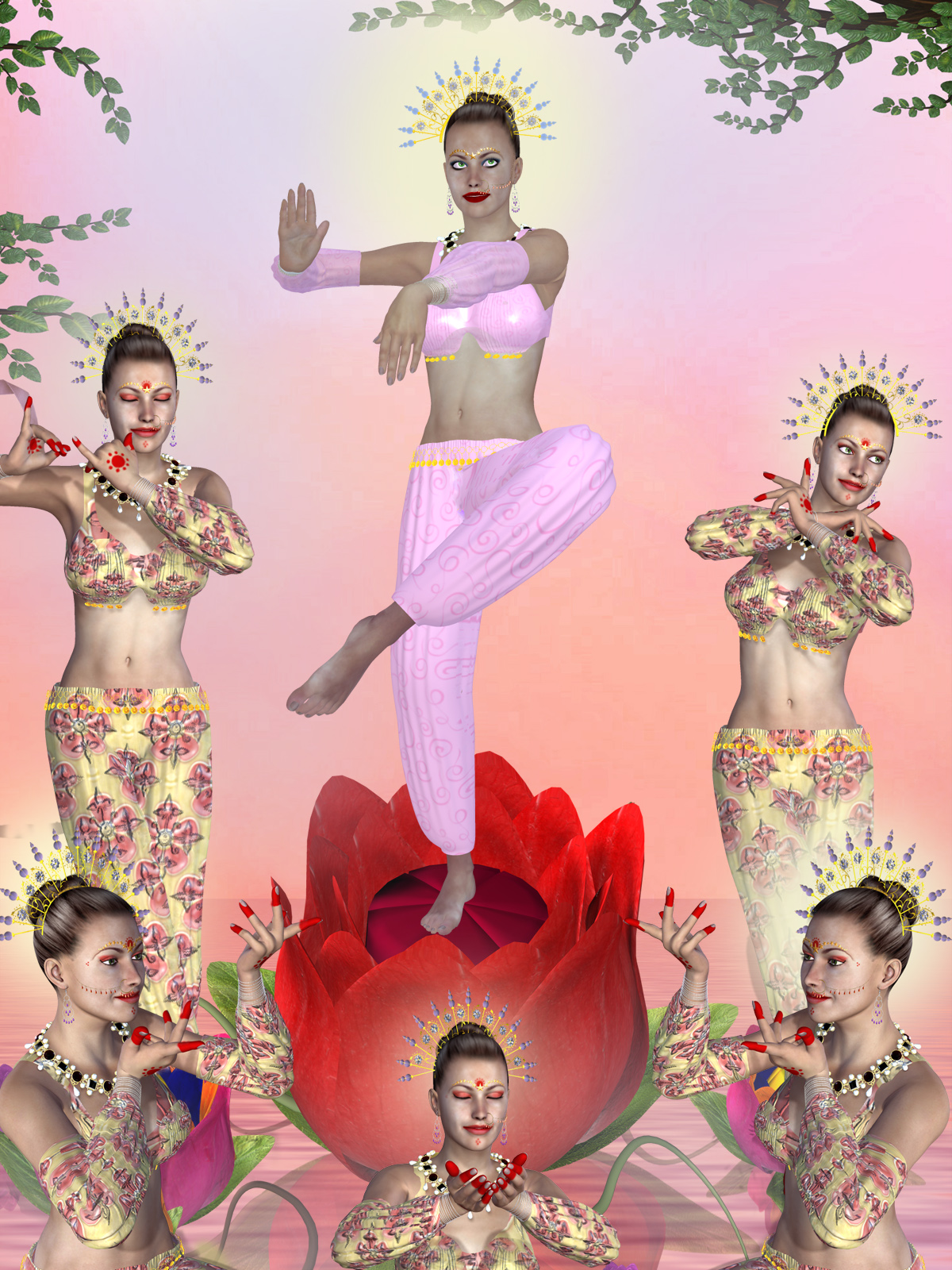 Indian Classical Dance Pose