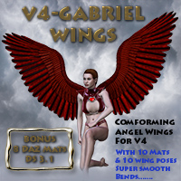 V4-Gabriel-wings 3D Figure Essentials 3D Models midnight_stories