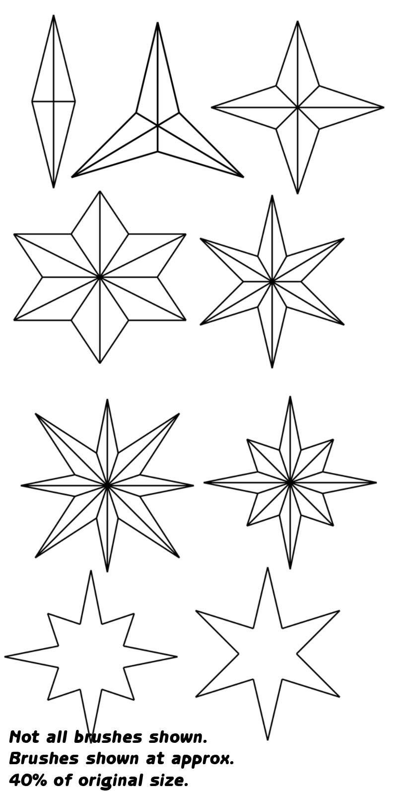 stars  u0026 geometric shapes pack 2d tmd64
