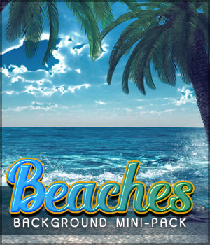 Beaches Background Mini Pack 2D Graphics Sveva