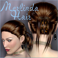 Merlinda Hair For V4 A4 G4 by nikisatez