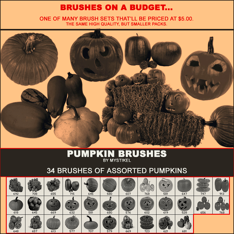 BRUSHES ON A BUDGET- Pumpkins