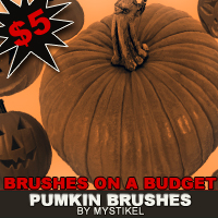 BRUSHES ON A BUDGET- Pumpkins 3D Models 2D Graphics mystikel