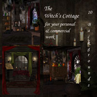 The Witch's Cottage 2D 3D Models schonee