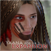Yaana for V4.2 Expansion 3D Figure Assets moonbunnie