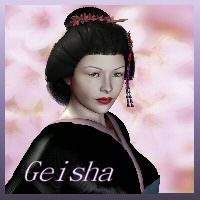 Geisha for V4 3D Figure Assets chasfh