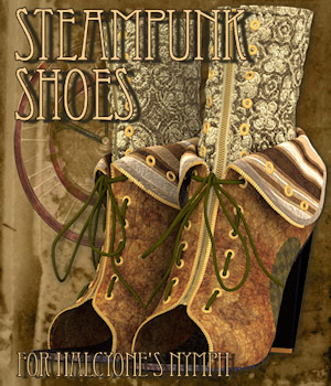 Steampunk Shoes 3D Figure Assets Tipol