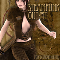 Steampunk Outfit 3D Models 3D Figure Essentials Tipol