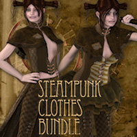 Steampunk Clothes Bundle 3D Models 3D Figure Essentials Tipol
