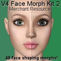 V4 face Morph kit 2 3D Figure Essentials HandspanStudios