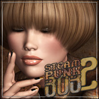 Steampunk Bob Hair 2 3D Figure Essentials outoftouch