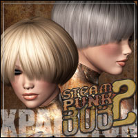 Steampunk Bob Hair 2 XPansion 3D Figure Assets 3D Models outoftouch