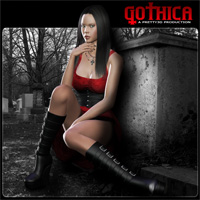 Gothica Clothing Themed Pretty3D