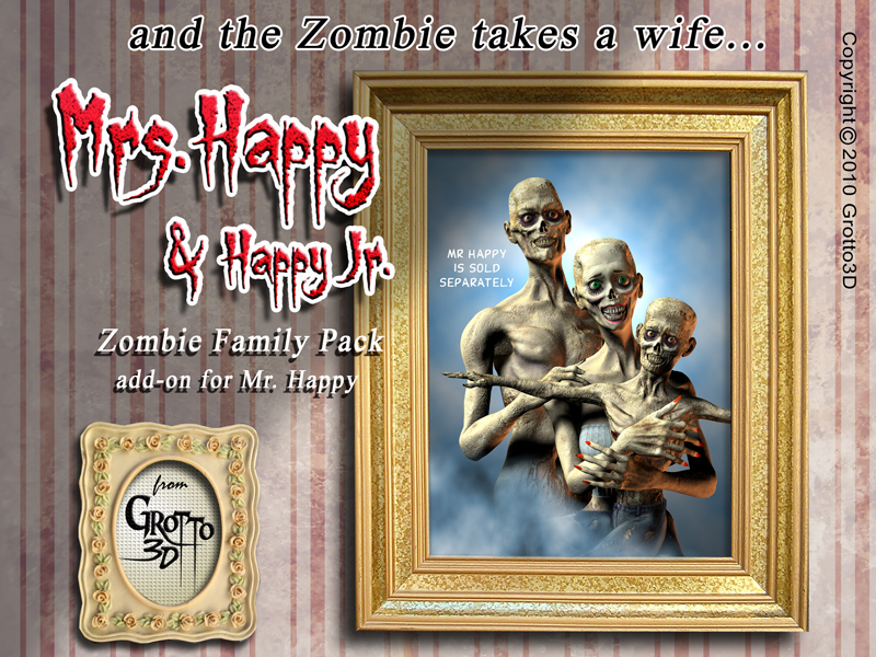 Zombie Family Pack-Add on for Mr Happy