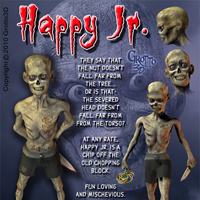 Zombie Family Pack-Add on for Mr Happy image 3