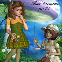 Four Seasons for K4 3D Figure Assets LadyFay