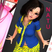 Chit Chat - NATU School Uniform 3D Models 3D Figure Assets nirvy