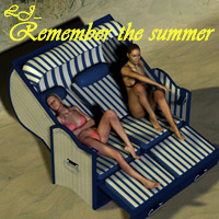 LJ_Remember the summer - Strandkorb/beach chair 3D Models lyma
