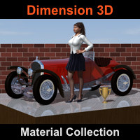 D3D Material Collection 3D Figure Assets Dimension3D
