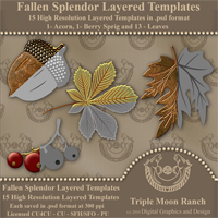 Fallen Splendor Layered Templates 3D Models 2D TMRDGAD