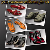 STZ Footwear collection for V4 3D Figure Essentials 3D Models santuziy78