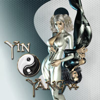 Yin Yang 3D Figure Assets shaft73