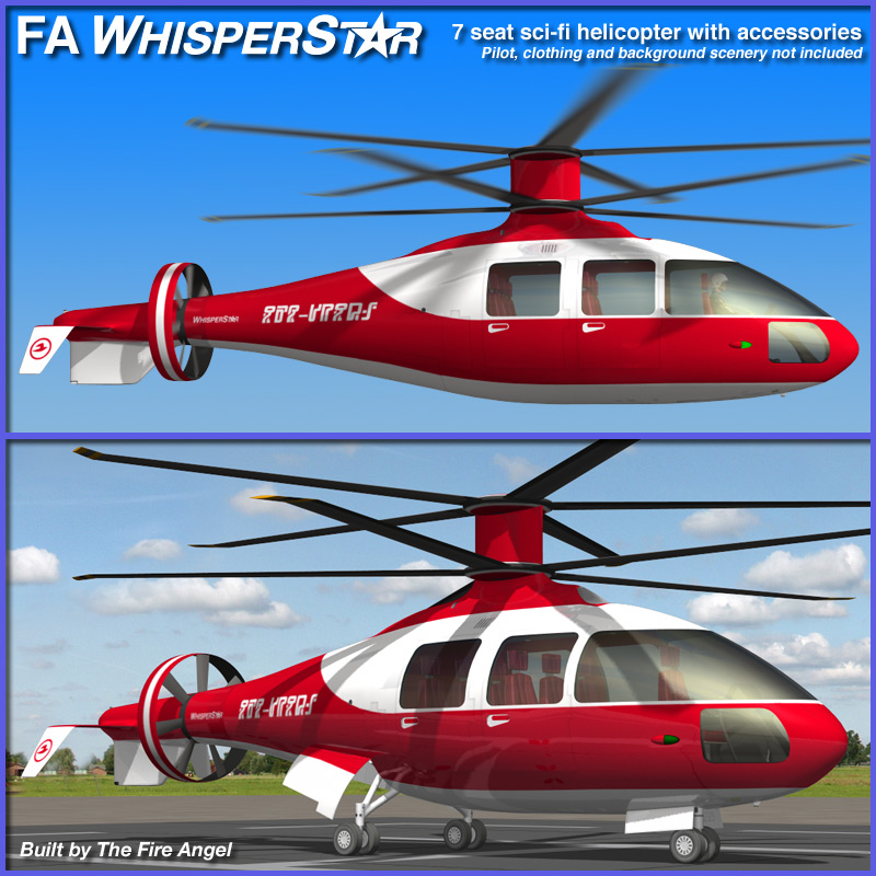 FA WhisperStar sci-fi helicopter for Poser