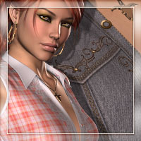 Country Flair for Hot Girl III 3D Figure Assets 3D Models Romantic-3D