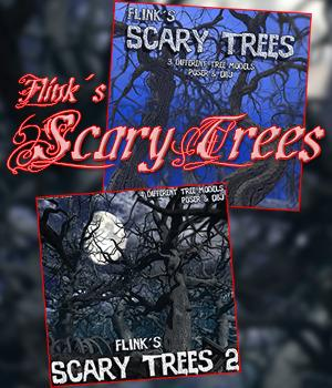Flinks Scary Trees 1+2 Bundle 3D Models Flink