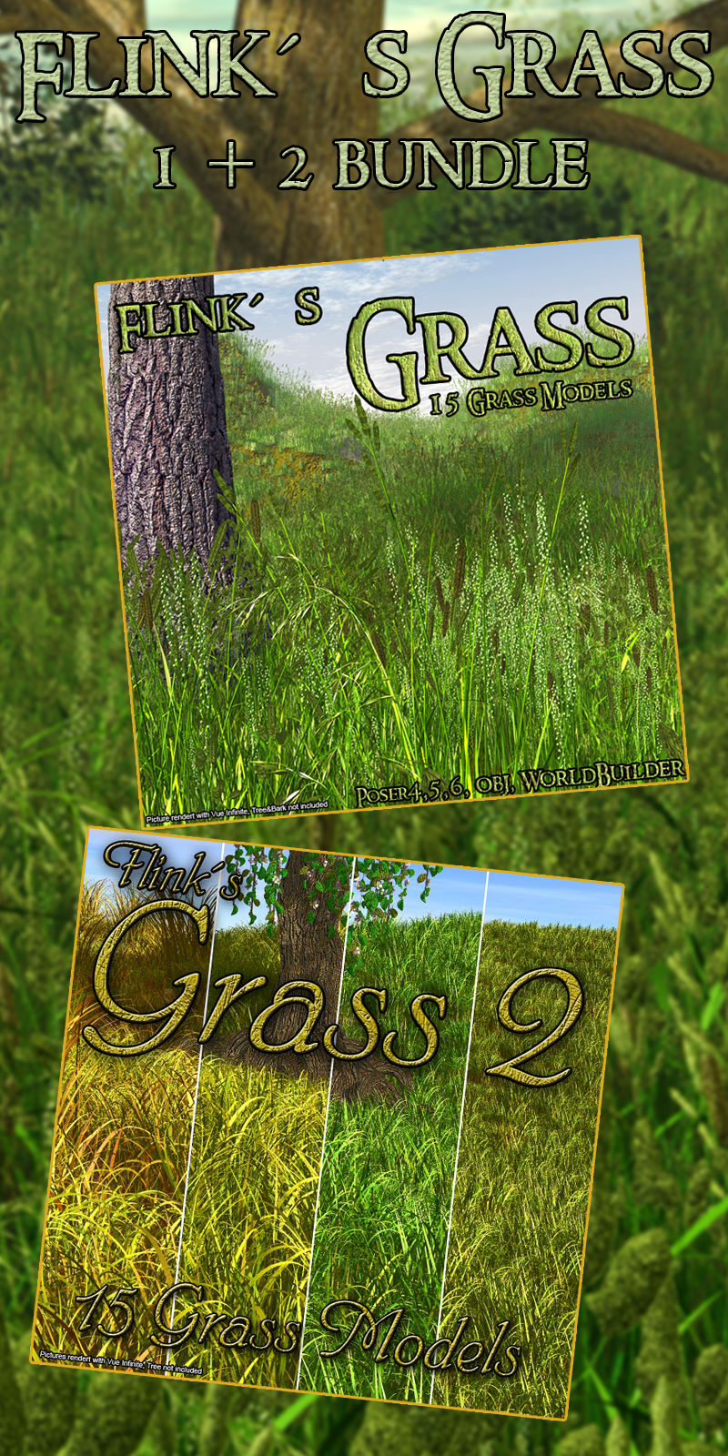 Flinks Grass 1 and 2 Bundle