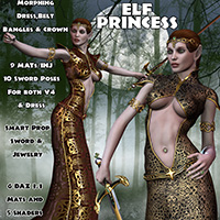 Elf Princess Characters Props/Scenes/Architecture Clothing Themed midnight_stories