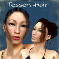Tessen Hair 3D Figure Essentials xilia78