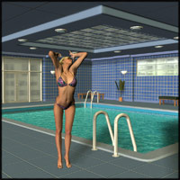 Indoor Pool II Set Themed Props/Scenes/Architecture Richabri