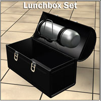 Lunchbox and Thermos  Simon-3D