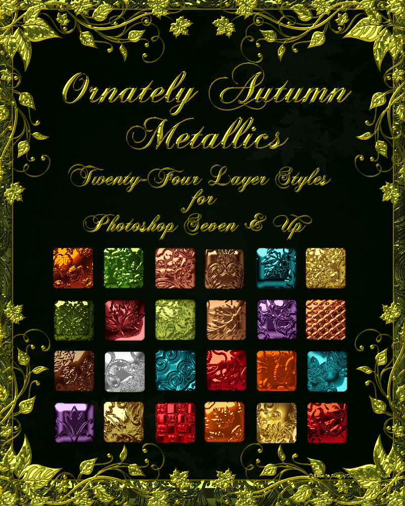 Ornately Autumn Metallic Layer Styles w/ Free Gift
