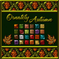 Ornately Autumn Metallic Layer Styles w/ Free Gift  2D 3D Models fractalartist01