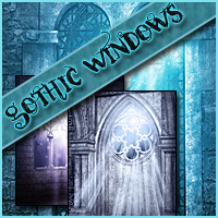 Background Mini-Pack 05: Gothic Windows Themed 2D And/Or Merchant Resources Sveva